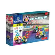 Magspace - 25 Piese Mini Karting set joc magnetic educativ de constructie 3D