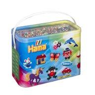 Hama - Set margele de calcat Mix de 22 culori Model 1 Midi