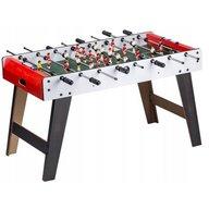 Ecotoys - Masa de fotbal din lemn 60 x 120 x 78 cm XXL, Alb