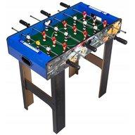 Ecotoys - Masa de fotbal din lemn 60 x 120 x 78 cm XXL, Albastru