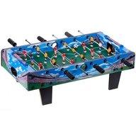 Ecotoys - Masa de fotbal din lemn 70 x 36 x 24 cm, Albastru