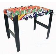 Ecotoys - Masa de fotbal din lemn 50 x 90 cm, Natur, Wenge
