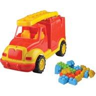 Ucar Toys - Masina pompieri 43 cm cu 38 piese constructie in cutie