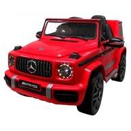 R-Sport - Masinuta electrica Mercedes G63 , Cu telecomanda, Cu roti EVA, Cu scaun piele, Rosu