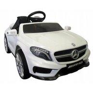 R-Sport - Masinuta electrica Mercedes GLA45 , Cu telecomanda, Cu roti EVA, Cu scaun piele, Alb