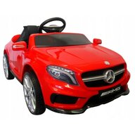 R-Sport - Masinuta electrica Mercedes GLA45 , Cu telecomanda, Cu roti EVA, Cu scaun piele, Rosu