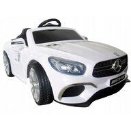 R-Sport - Masinuta electrica Mercedes SL63 , Cu telecomanda, Cu roti EVA, Cu scaun piele, Alb