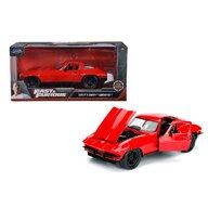 Simba - Masina Chevy Corvette 1966 , Fast and furious , Metalica,  Scara 1:24, Rosu