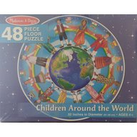 Melissa & Doug Puzzle Copii In Jurul Lumii  48 piese