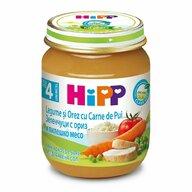 HiPP - Meniu pui cu orez si legume, 125 gr