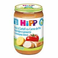 HiPP - Meniu pui cu rosii si cartofi, 220 gr