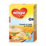 Milupa - Cereale cu lapte si 3 fructe, 250g, 6luni+
