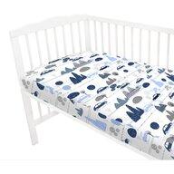 MimiNu - Cearceaf cu elastic, 120X60 cm, Childrens Journey blue