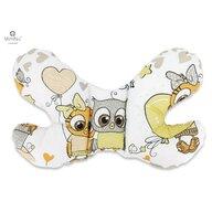MimiNu - Perna bebelusi Butterfly, Cute owls beige