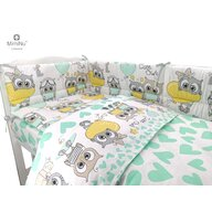 MimiNu - Set 3 piese patut, Cute Owls mint
