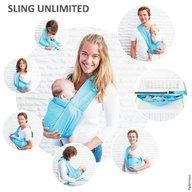 Minimonkey - Sling bebe Unlimited 7 in 1 Turcoaz