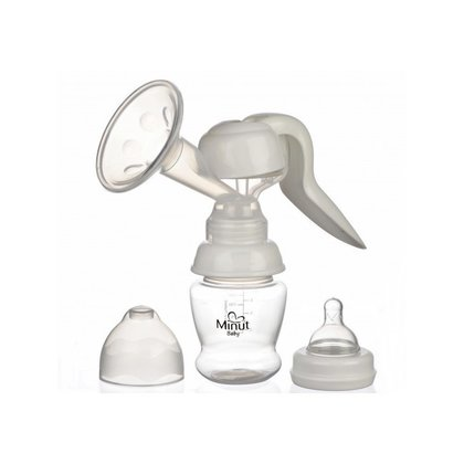 Minut Baby  - Pompa san manuala cu biberon si tetina, fara BPA