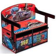 Delta Children - Mobilier 2 in 1 pentru depozitare jucarii Disney Lightning McQueen