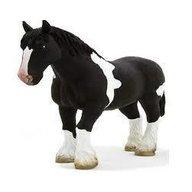 Mojo - Figurina Cal Clydesdale alb si negru