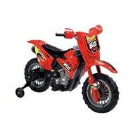 Globo - Motocicleta electrica pentru copii Enduro Motocross 6V, cu telecomanda control parinte, Rosu