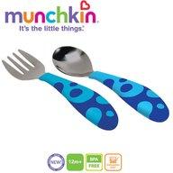 Munchkin - Set 2 tacamuri Lingurita si Furculita Inox 12L+ Blue