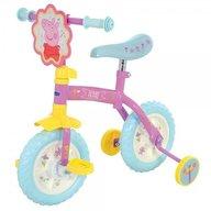 MVS - Bicicleta copii Peppa Pig 10 inch 2 in 1 cu si fara pedale si roti ajutatoare