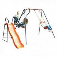 MVS - Leagan cu balansoar si tobogan Saturn pentru copii combinate