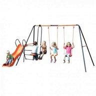 MVS - Leagan dublu cu balansoar si tobogan Europa pentru copii combinate