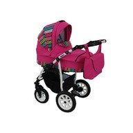 MyKids Carucior copii 3 in 1 MyKids Germany Roz Color