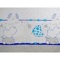 MyKids Lenjerie MyKids My Zoo Albastru 4+1 Piese 120x60 cm