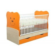 MyKids Patut Transformabil MYKIDS Teddy Natur-Orange Cu Leg 4837