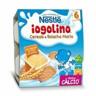 Nestle - Gustare Baby Iogolino, cereale si biscuiti, 4x100g