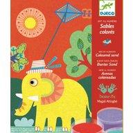 Djeco - Nisip colorat Animale pentru copii