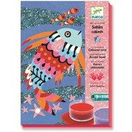 Djeco - Nisip colorat Pesti stralucitori