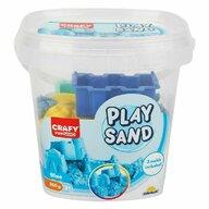 CRAFY - Nisip kinetic 350 gr, Cu 3 unelte de modelat Fun Sand, Albastru