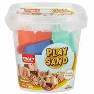CRAFY - Nisip kinetic 350 gr, Cu 3 unelte de modelat Fun Sand, Natur