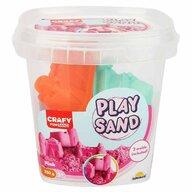 CRAFY - Nisip kinetic 350 gr, Cu 3 unelte de modelat Fun Sand, Roz