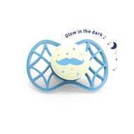 Nuvita - Air.55 Cool! Suzeta simetrica de noapte cu capac protector 6 luni+, Glow Dusk Blue