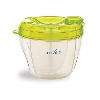 Nuvita - Recipient si dozator lapte praf 4 compartimente , Verde