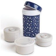 Nuvita - Termos inox mancare solida 1200 ml cu 3 recipiente interne 1477 Albastru