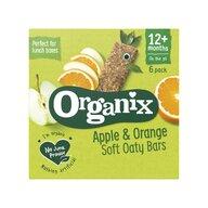 Organix - Batoane din cereale, mere, portocale 6x30 g, 12+, eco