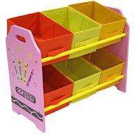 Style - Organizator jucarii cu cadru din lemn Pink Crayon