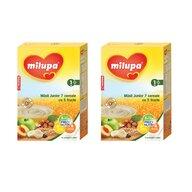 Milupa - Pachet 2 x Cereale fara lapte, Musli Jr 7 cereale cu 5 fructe, 250g, 12luni+