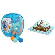 Ludi - Salteluta interactiva Bufnita Cu set bile de joaca, Albastru