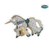 Papo - Figurina Calul cavalerului unicorn