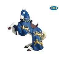 Papo - Figurina Calul regelui Richard (albastru)