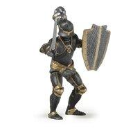 Papo - Figurina Cavaler in armura (negru)
