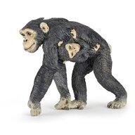 Papo - Figurina Cimpanzeu si pui
