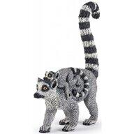 Papo - Figurina Lemur cu pui