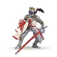 Papo - Figurina Rege cu blazon dragon (rosu)